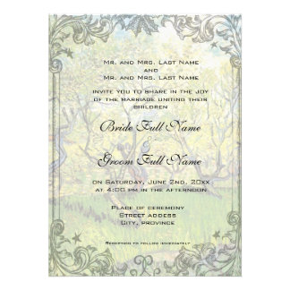 Wedding invitation from bride and groom s parents announcements
