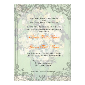 Wedding invitation from bride and groom s parents personalized announcements
