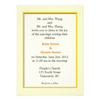 wedding invitation from bride and groom's parents. invitations