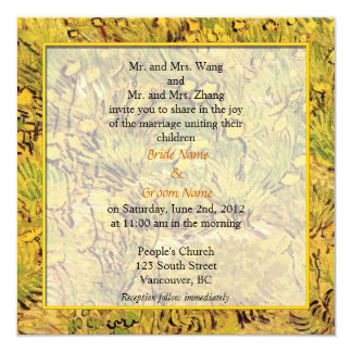wedding invitation from bride and groom's parents. personalized invites