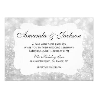 Wedding Invitation - Glit Fab Two - Lit Silver