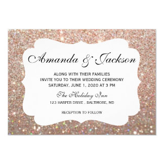 Wedding Invitation - Glit Fab Two - Rose Gold