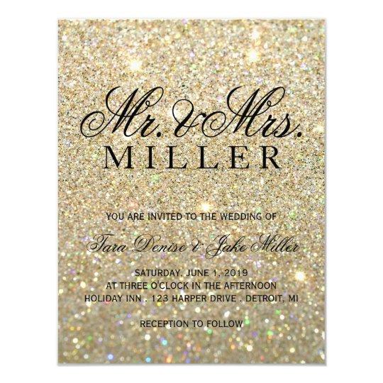 Wedding Invitation - Gold Glit Fab