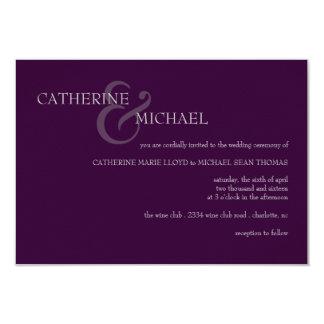 "Wedding Invitation | & II |purgrey 3.5"" X 5"" Invitation Card"