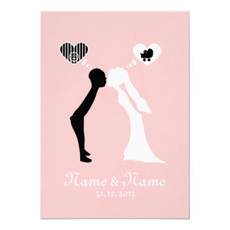 Wedding invitation: Kiss into the common future Card