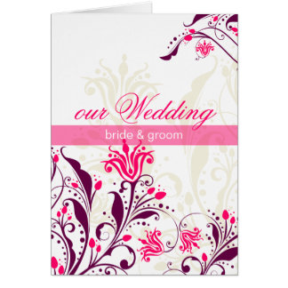WEDDING INVITATION lily Greeting Cards