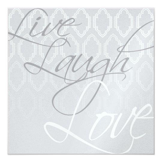 Wedding Invitation - Live - Laugh - Love