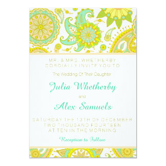Wedding Invitation Lively Spring Colors and Trendy
