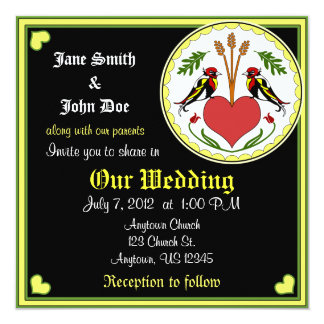 Wedding Invitation - Long, Happy Relationship Hex