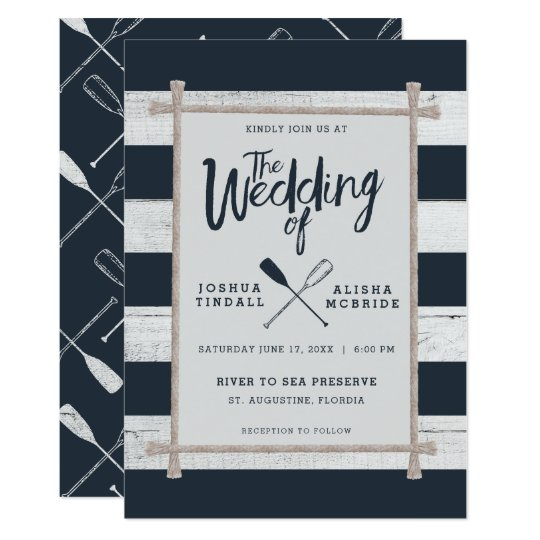 WEDDING INVITATION | Nautical Rustic Oars
