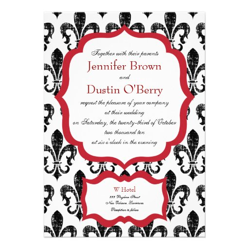 Wedding Invitation | New Orleans | Red Alternate