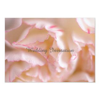 Wedding Invitation on Pink Carnation
