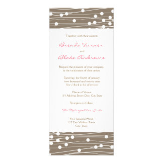Wedding Invitation - Organic Dots and Lines
