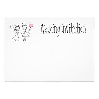Wedding Invitation Personalised Shabby Chic