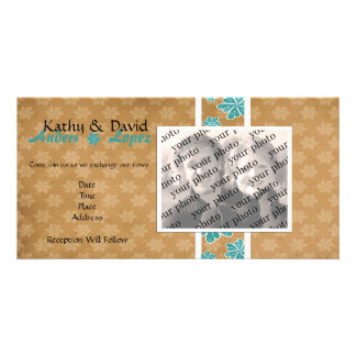 Wedding Invitation Photo Card Template