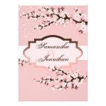 Wedding Invitation Pink Cherry Blossom Floral