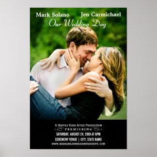 Wedding Invitation Poster   Movie Themed Design
