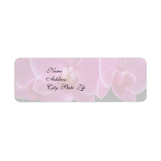 Wedding Invitation Return Address Label - Orchids