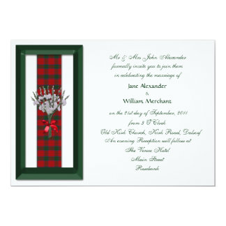 Wedding Invitation Robertson Scottish Tartan