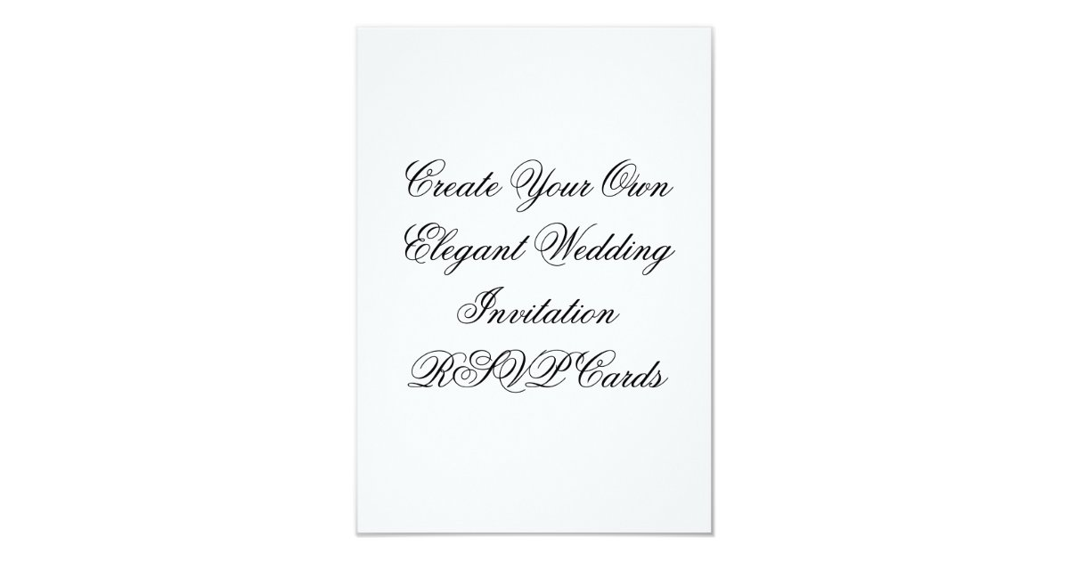 Wedding invitation rsvp cards create your own zazzlecouk for Wedding invitations and rsvp cards all in one uk