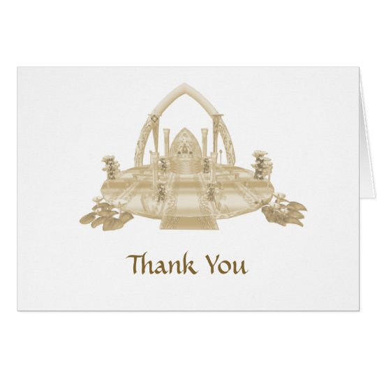 Wedding Invitation RSVP Thank You Card