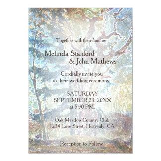 Wedding Invitation | Rustic Country Pastel Tree