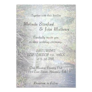Wedding Invitation | Rustic Country Stream