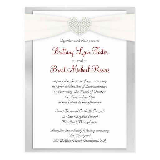 Wedding Invitation Sample Postcard