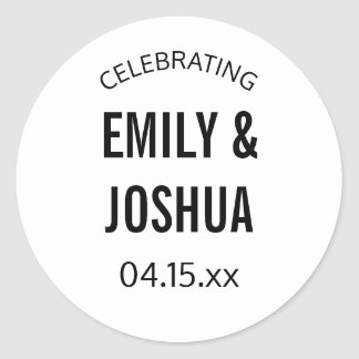 Wedding invitation seal sticker custom template