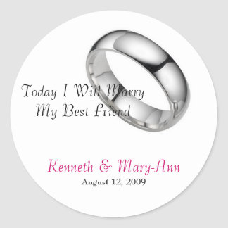 Wedding Invitation Seals Round Sticker