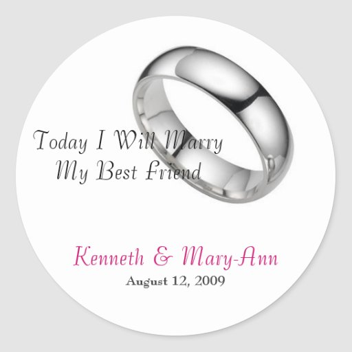Wedding Invitation Seals Round Stickers