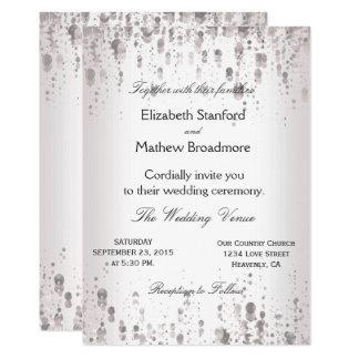 Wedding Invitation | Silver Glitter