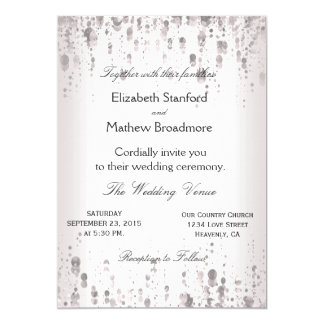 Wedding Invitation   Silver Glitter