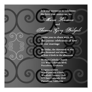 Wedding Invitation Simply Charcoal