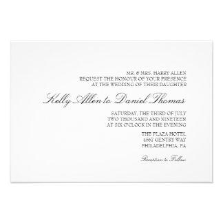 Wedding Invitation Simply Grace wb