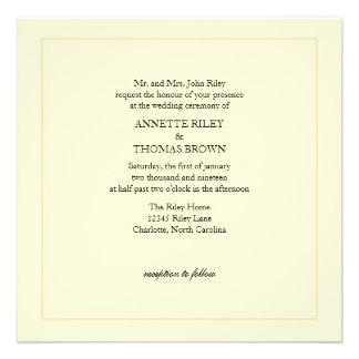 Wedding Invitation Simply ivb