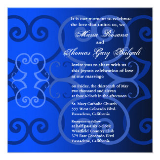 Wedding Invitation Simply Royal Blue