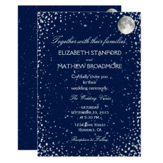 Wedding Invitation | Starry Night Moon