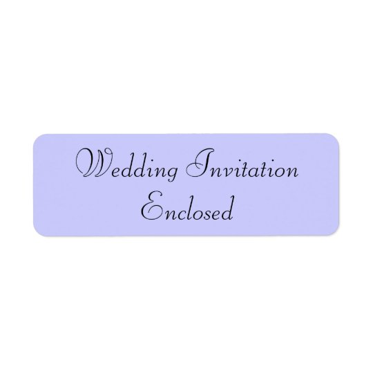 Wedding Invitation Stickers Return Address Label