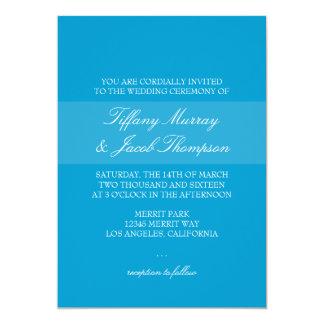 "Wedding Invitation | T.2 |bl 5"" X 7"" Invitation Card"