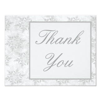 Wedding Invitation Thank you card Winter snowflake