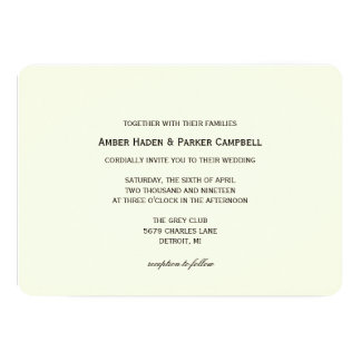 Wedding Invitation   To have & To Hold