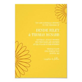 "Wedding Invitation | Two Flowers |go 3.5"" X 5"" Invitation Card"