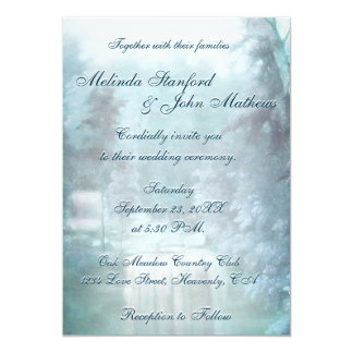 Wedding Invitation | Waterfall Blue