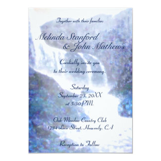 Wedding Invitation | Waterfall Purple