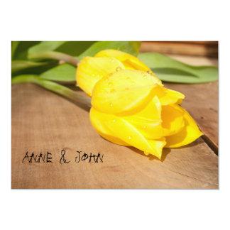 "Wedding Invitation ""Yellow Tulip"""