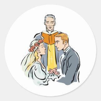 Wedding Invitations 38 Round Stickers