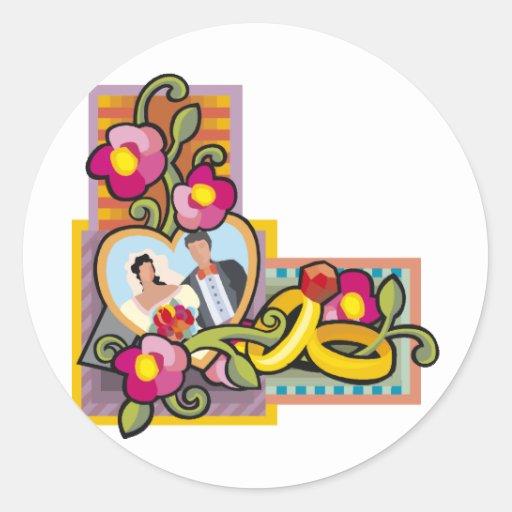 Wedding Invitations 39 Round Sticker