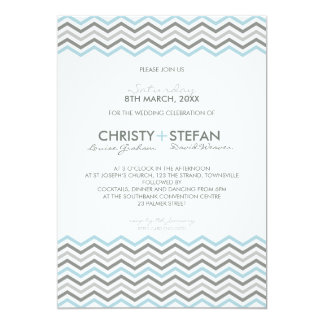WEDDING INVITATIONS :: chevron1 5x7 3