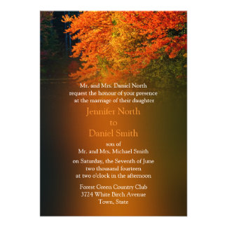 Wedding Invitations For Fall